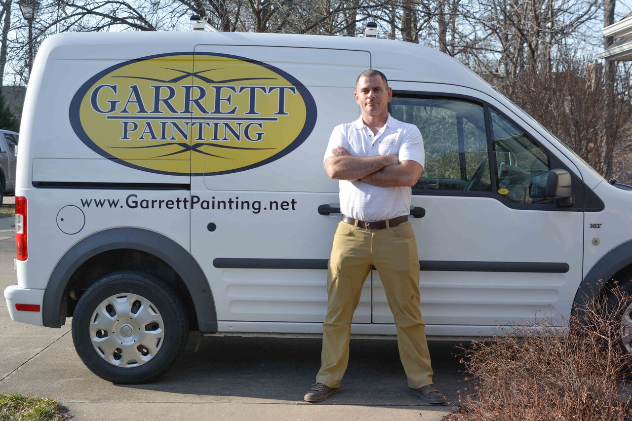 Shane in front of Garrett Painting truck